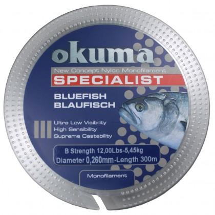 Okuma Bluefish 300 mt 0.28 mm Düşük Hafızalı Misina